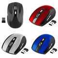 Nueva 2.4 GHz Wireless Optical Mouse/Ratones Con USB 2.0 Del Receptor para PC Portátil