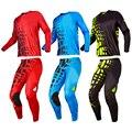 Envío Gratis Traje de Carreras de Motos de Motocross Off-Road MTB DH MX Carreras profesión equipo Jerseys + Pants Protectora Combinaciones