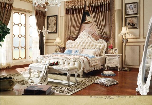 Hout Slaapkamer Meubels : Hot koop massief hout 1.8 2 m slaapkamer set uit procare meubels in
