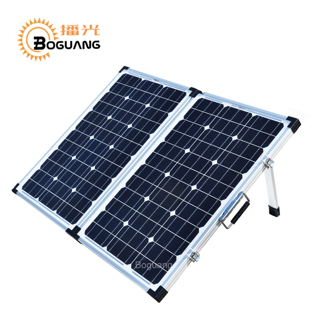 Boguang 120w glass solar panel 60w Monocrystalline  cell foldable module box 12v/24v/10A controller for battery ourdoor charger