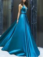 Formal Evening Dress 2019 V Neck Prom Floor Length Vestidos Elegant Backless Party Gowns