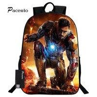 Marvel Schoolbag For Boys Super Hero Iron Man Printing Backpack For Children Orthopedic Backpack Schoolbag For