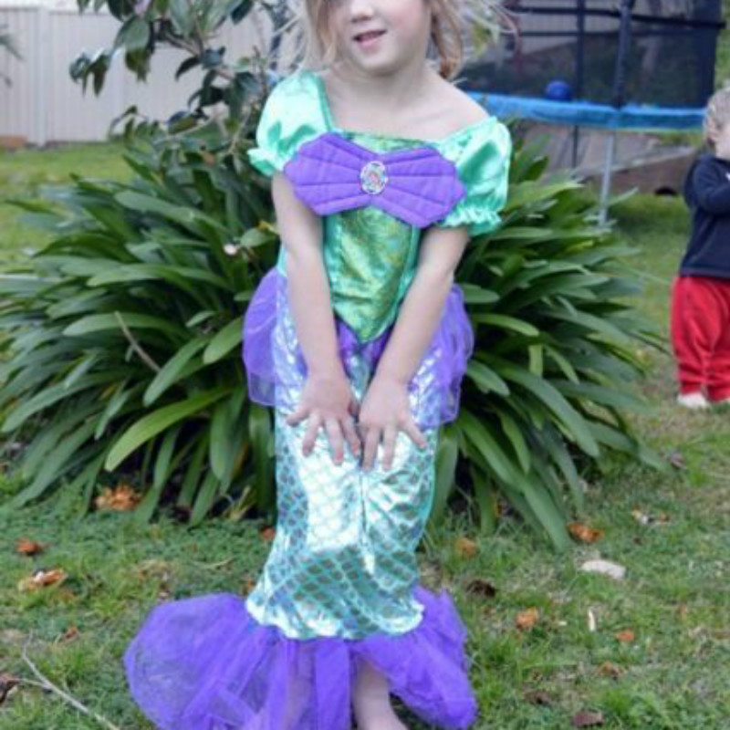 Little Mermaid Ariel Child Girl Dress Up Costume Size 3T-10 вечернее платье mermaid dress vestido noiva 2015 w006 elie saab evening dress