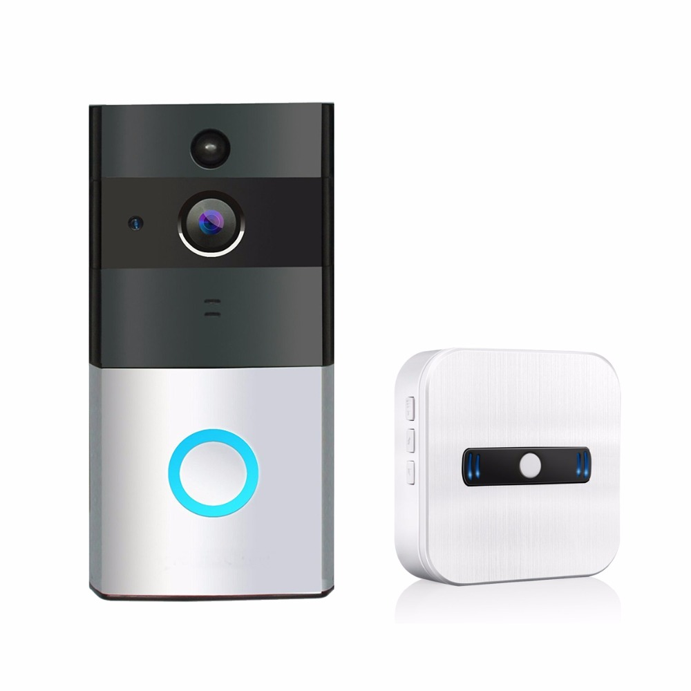 Wi-Fi Enable Video Doorbell Wireless 1 Indoor Chime, 720P HD Wide-Angel Door Camera Night Vision for IOS Android F1428DWi-Fi Enable Video Doorbell Wireless 1 Indoor Chime, 720P HD Wide-Angel Door Camera Night Vision for IOS Android F1428D