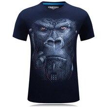 New 2017 3D T Shirt Men Hip Hop T-shirt 5XL 6XL  Size Mens Funny T Shirts Luxury Brand Camiseta Animals Print Tee Shirt Homme