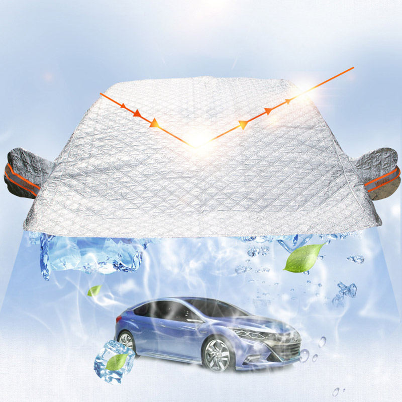 AIKESI Thicken PEVA Cover Dust Resistant Shield Car Covers Sun Shade Car Snow Shield Auto Front Windscreen Protector Hook Up in Car Covers from Automobiles Motorcycles