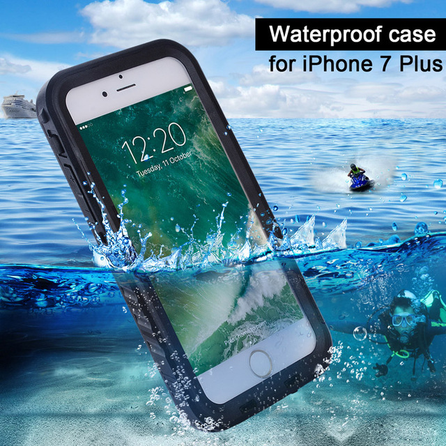 big sale a2ec6 f48c7 US $13.68 |Anti shock Shockproof Dustproof Underwater Diving Waterproof  Phone Cases Cover For Apple iPhone 7 Plus 5.5 360 Full Case-in Fitted Cases  ...