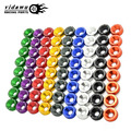 8PCS/LOT M6 Aluminum Fender Bumper Washer Bolt Nuts Engine Bay Dress Up Kit For Civic