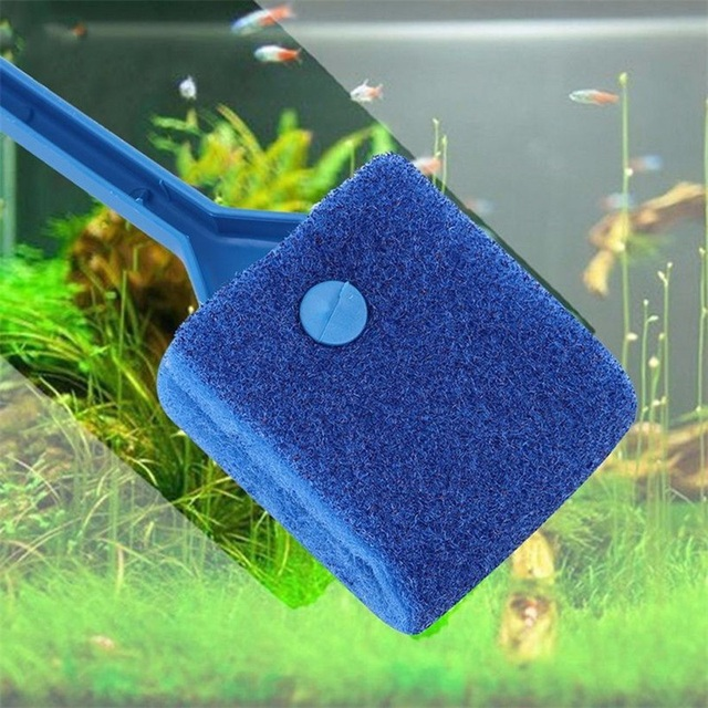 New Plant Easy 2 Head Cleaning Brush Practical Aquarium Fish Tank Algae Cleaner Glass Scraper Brush PL2 new
