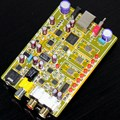 DSD1796 + MAX441 XMOS U8 decoder board coaxial / amp DSD64, DSD128, DSD256 format music PCM supports up to 384K, support OTG