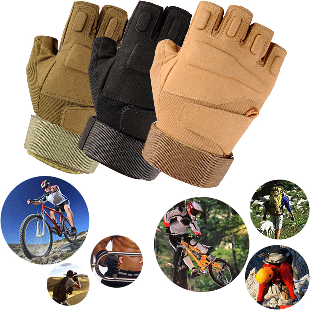 New Outdoor Military Tactical Airsoft Hunting Riding Cycling Half-finger Gloves