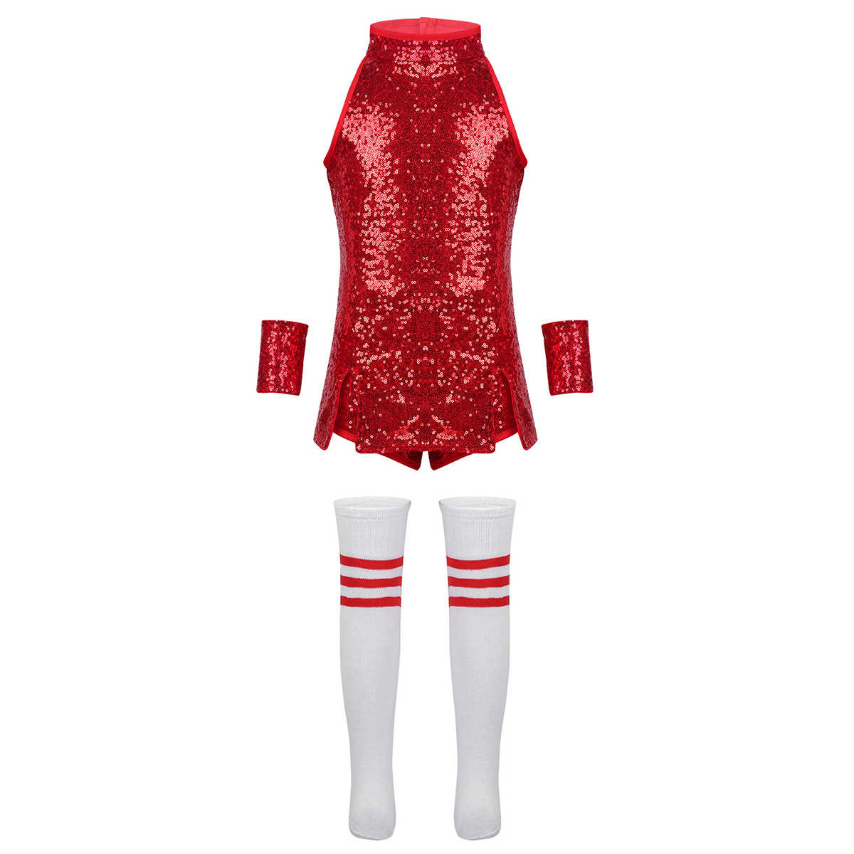 f49c33dbcd397 ... New Kids Girls Hiphop Jazz Dance Costume Performance Street Dance  Clothes Shiny Sequins Sleeveless Outfit Vest ...