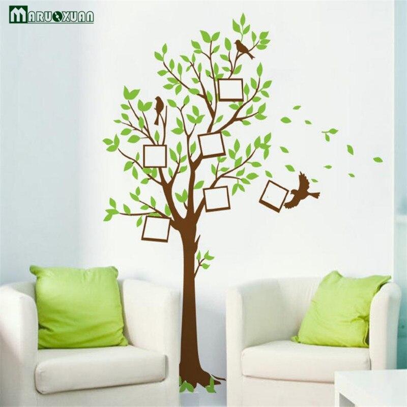 Maruoxuan Cartoon Wishing Tree Bird Picture Photo Frame Vinyl Wall Stickers For Kids Rooms Children Room Vinyl Mural Home Decor
