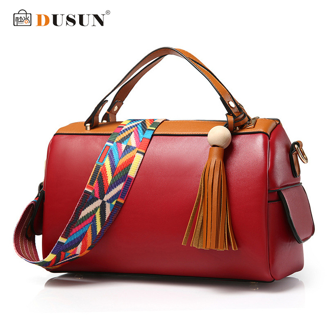DUSUN Brand Women luxury Handbag With Two Straps High Quality Tote Women Bags Tassel Designer Vintage Shoulder Messenger Bags
