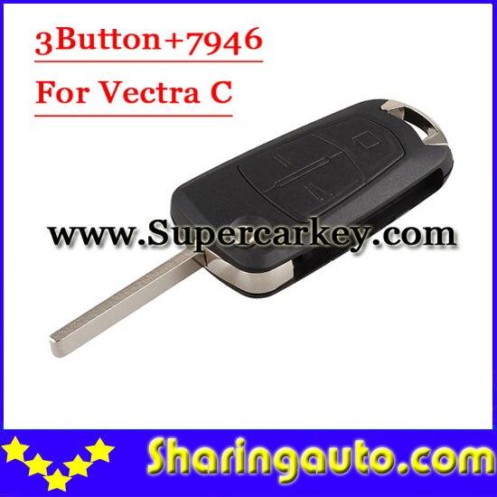 bilder für Freies verschiffen 3 Knopf-schlag-fernschlüssel 433 MHZ Für Opel Vectra Mit 7946 (1 stück)