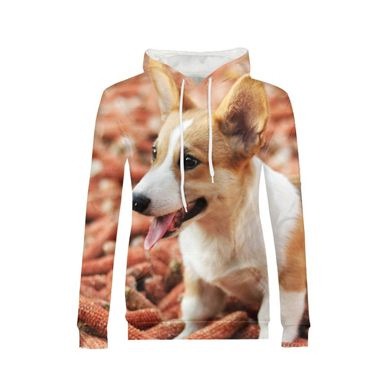 Fashion Style Corgi Sweatshirt Corgi Sweatshirt Dog Sweatshirt Welsh Corgi Shirts Pocket Dog Lover Pet Grey Women's Clothing d156 Outstanding Features