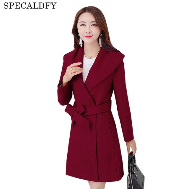 811fc0f43c2 Brand Design Winter Coats Women Warm Wool Coat Long Women s Cashmere Coat  2018 European Fashion Plus Size Jacket Outwear