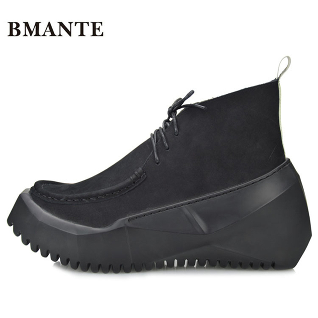 Designer Famous brand casual calzature Uomo Spessa suola piattaforma ...