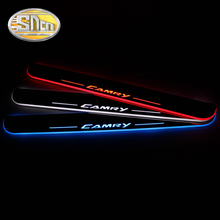 SNCN Car Accessories LED Illuminated Door Sill Plates LED Welcome Light Door Scuff Pedal For Toyota Camry 2011 – 2016