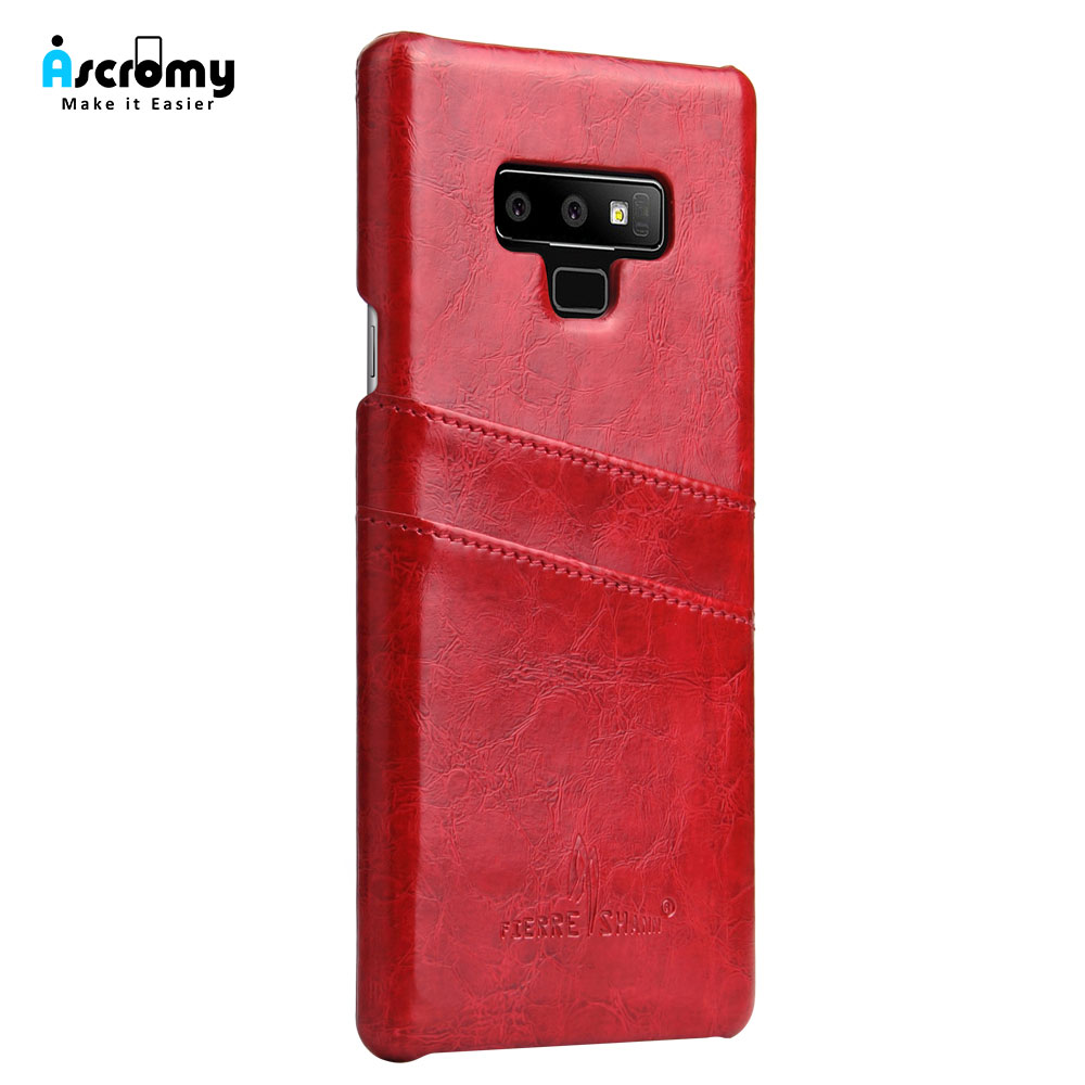 Ascromy For Galaxy Note 9 Case PU Leather Credit Card Holder Wallet Phone Case for Samsung Note 8 S9 Plus S8 S7 edge Accessories (4)