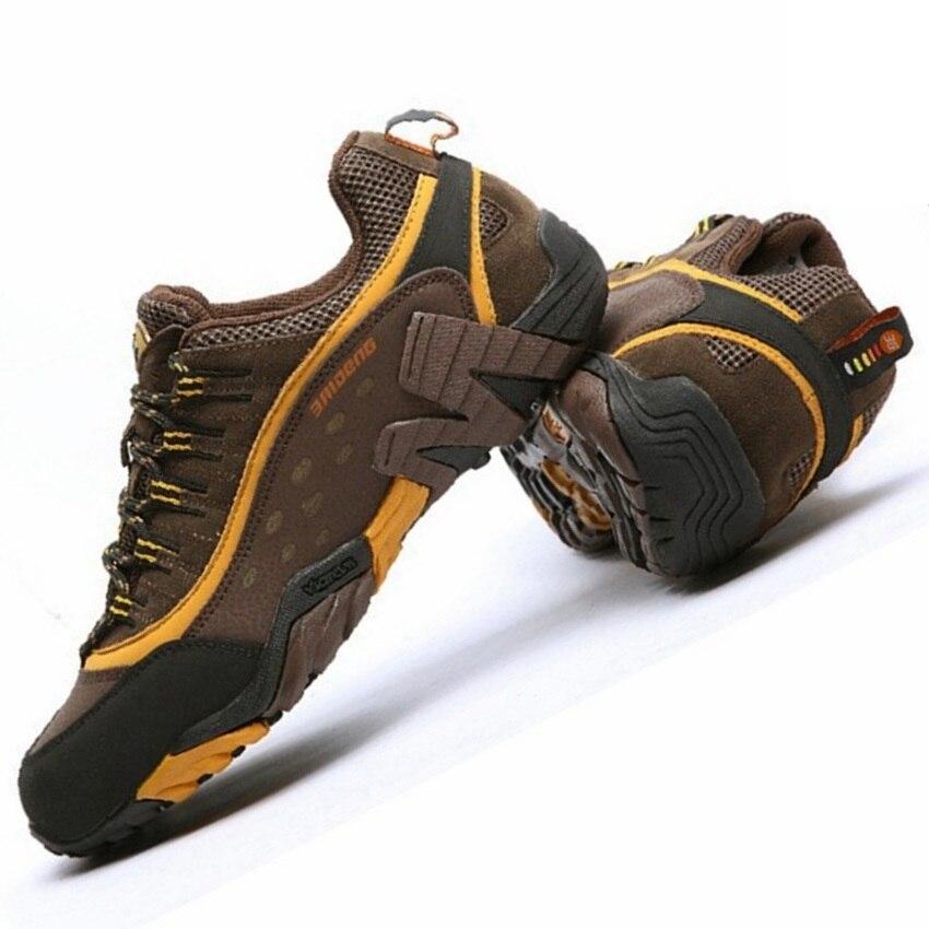Hommes chaussures de randonnée en plein air imperméable respirant chasse chaussures de trekking marque en cuir véritable sport escalade chaussures de randonnée baskets - 2
