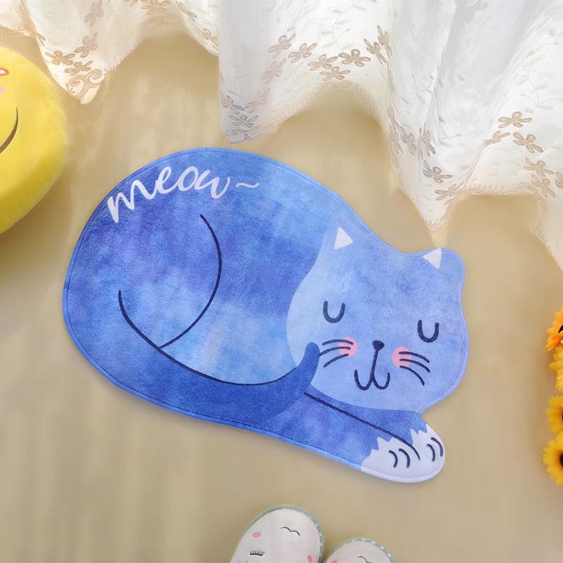 Милый Кот в японском стиле Коврик придверный home коврик кухня коврики спальня ковер подарок Творческие нескользящей коврик
