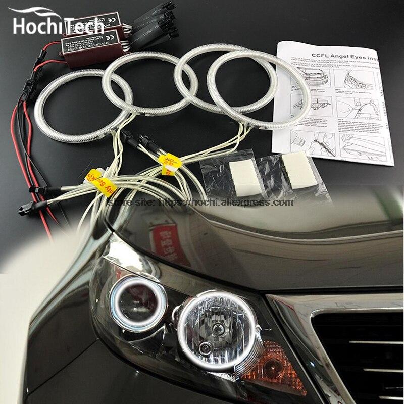 цена на HochiTech Excellent CCFL Angel Eyes Kit Ultra bright headlight illumination for Kia Sportage 2011 2012 2013 2014