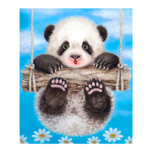Panda Swing Diamond Painting animal cartoon Round Full Drill 5D Nouveaute DIY Mosaic Embroidery Cross Stitch home decor gifts