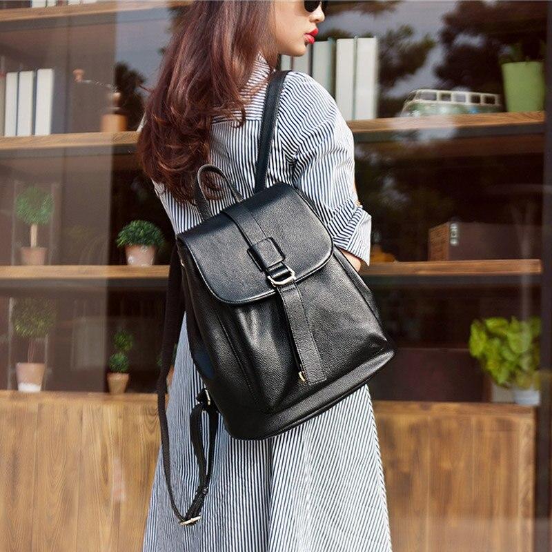 DOODOO แฟชั่นวัยรุ่นกระเป๋าเป้สะพายหลังผู้หญิงกระเป๋าหนัง Pu กระเป๋าเป้สะพายหลัง Multifunctional กระเป๋า 2018 สองสไตล์ขนาดใหญ่แพ็ค-ใน กระเป๋าเป้ จาก สัมภาระและกระเป๋า บน   2