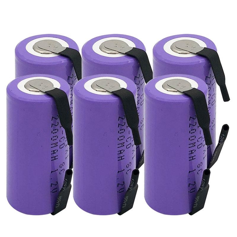 12 STÜCKE JNKXIXI qualität Lila SC Ni-CD batterie 2200 mah akku ersatz 1,2 V mit tab eine verlängerung