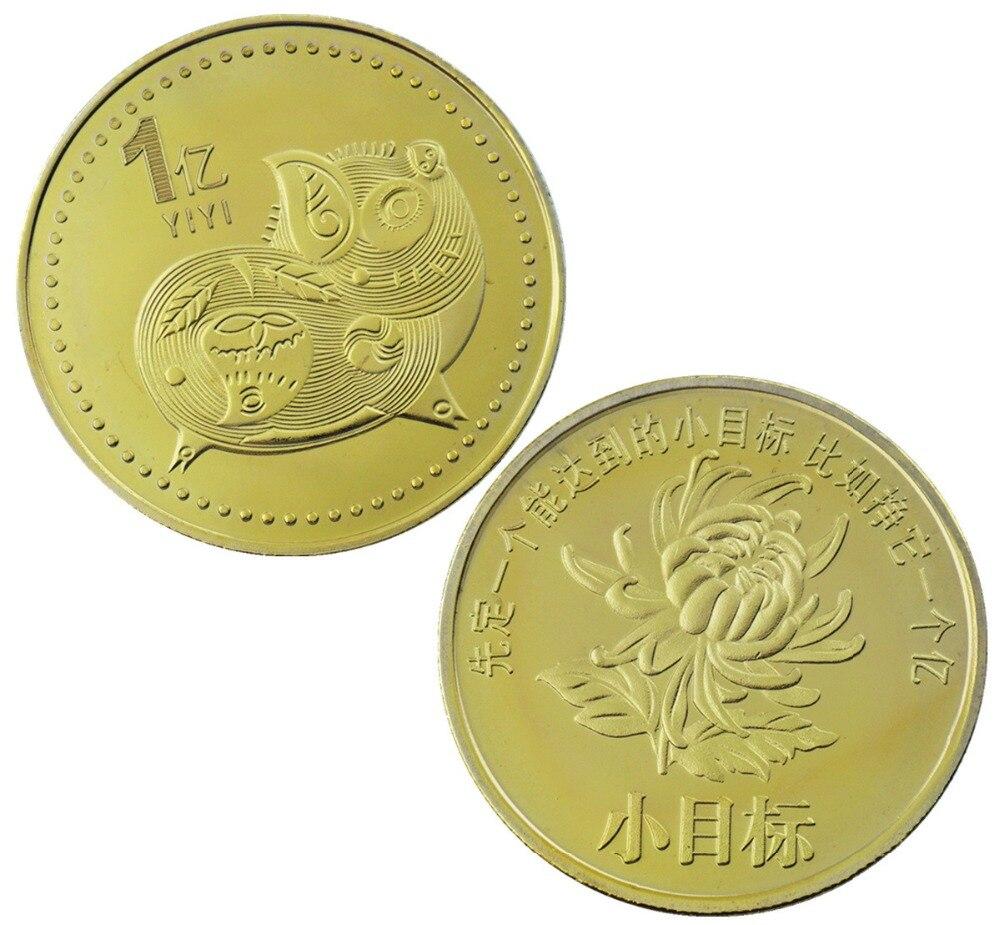 2019 Lucky Pig Commemorative Coin Happy Year of Pig Gilding Money Coins Souvenir