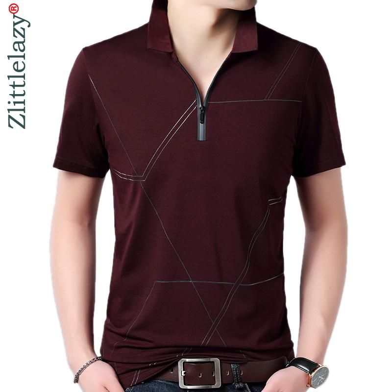2019 high quality summer polo shirt men short sleeve polos shirts zipper pocket mens pol clothes dress streetwear poloshirt 8178