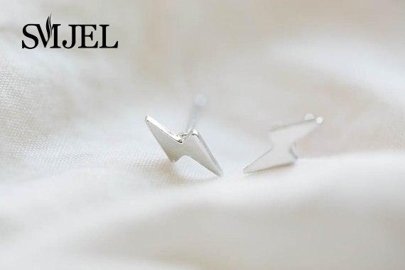 SMJEL Fashion Jewelry New Tiny Lightning Earrings for Women Thunderbolt Stud Earrings Men Gifts s050