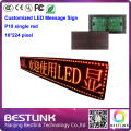 indoor led advertising sign board led display 16*224 pixel electronic led programmable sign scrolling taxi top sign board screen