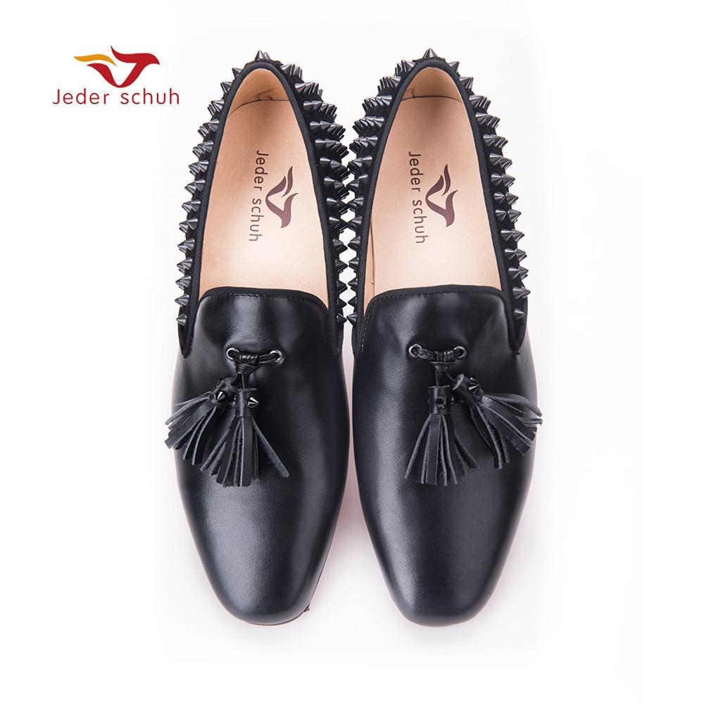 meeste küünlad Mood kingad kontsaga neet rivet disain fringed nahast pealsed matte meeste pulm ja pidulik kingad mehed korterid