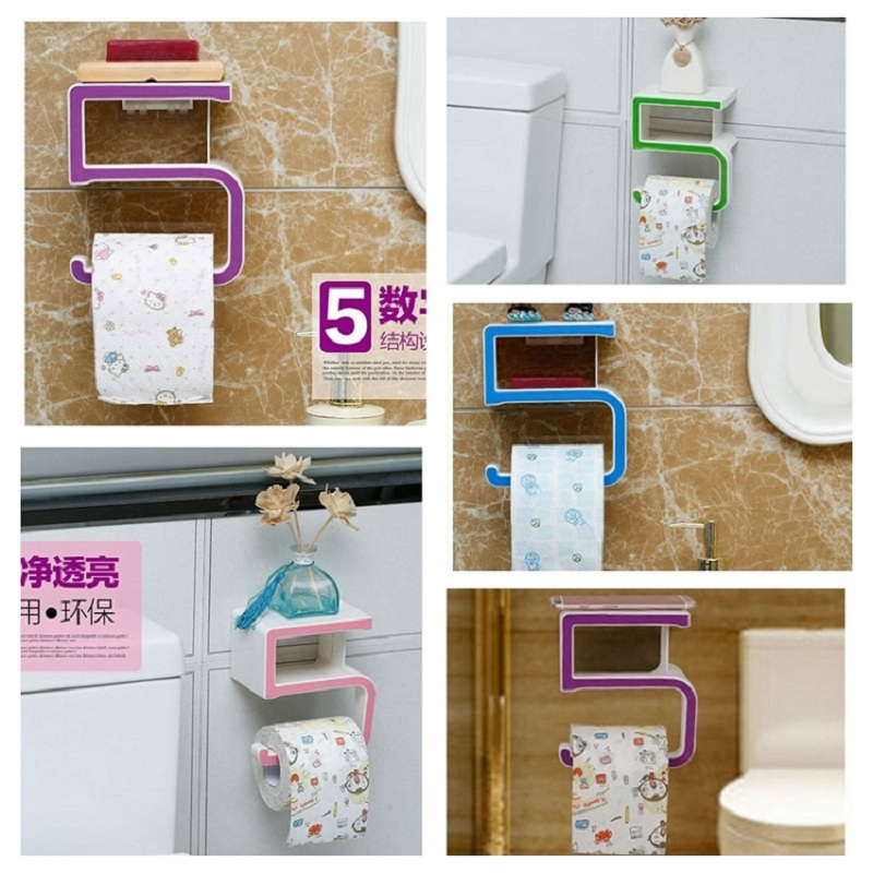 Plastic Suction Cup Paper Towel Holder for Kitchen Toilet ...