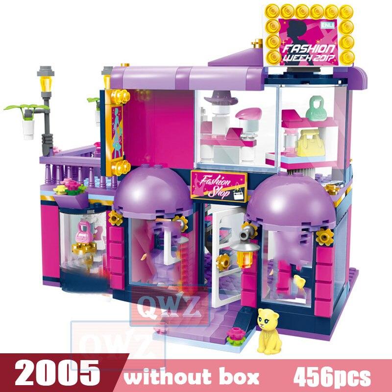 Legoes город девушка друзья большой сад вилла модель строительные блоки кирпич техника Playmobil игрушки для детей Подарки - Цвет: 2005 without box