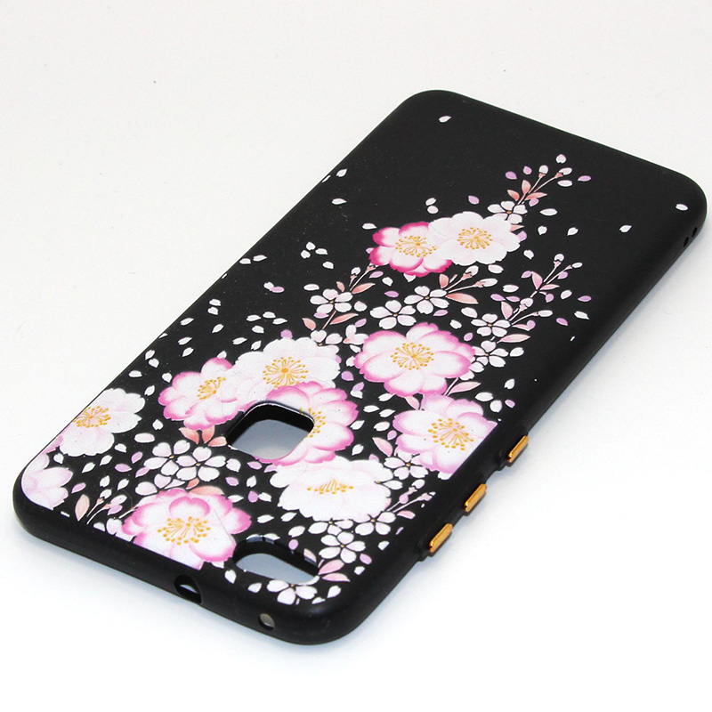 3D Relief flower silicone huawei P10 lite (44)
