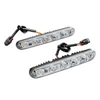 1 Pair Universal Auto Daytime Running Lights Turn Signal Indicators Car Styling DRL Waterproof Car Daytime