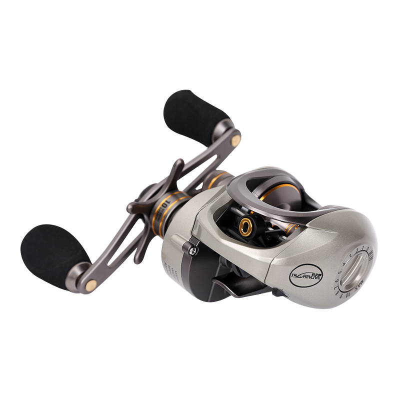 Tsurinoya Baitcast Fishing 10BB 6.6:1 Bait Casting Reel Magnetic & Centrifugal Double Brakes System Lure Reel Left Right handle abu garcia revo3 sx hs hs l 10bb 7 1 1 bait casting reel super smooth low profile water drop wheel left right hand max drag 9kg