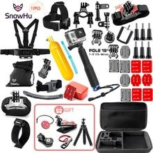 SnowHu for Gopro Accessories set for go pro hero 6 5 4 3 kit mount for SJCAM SJ4000 for xiaomi yi camera for xiomi tripod GS21