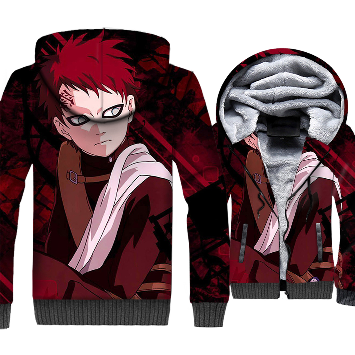 Hot Sale Man Sweatshirts 2019 Winter Clothing 3D Space Galaxy Uzumaki Naruto Wife Anime Hoodie Thick Unisex Coat Casual Jackets in Hoodies amp Sweatshirts from Men 39 s Clothing