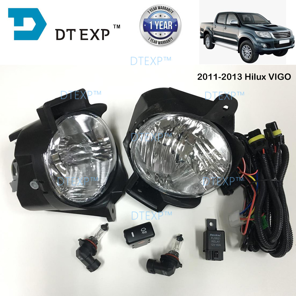 FOG LAMP FOR HILUX VIGO FRONT FOG LAMP with bulb and wire 2000-2018