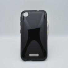 Simples e moda TPU Gel Soft X – linha de onda capa Case para HTC Desire 320