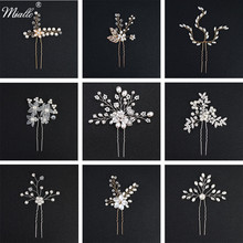 hot deal buy miallo women hairpins hair clips headpieces wedding hair jewelry accessories crystal pearls hair forks for bridal hairstyle