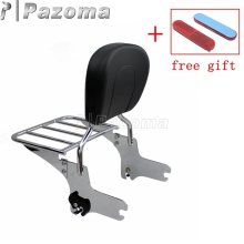 Motorcycle Detachable Rear Passenger Backrest Pad Sissy Bar Luggage Rack for Harley Touring FLHR FLHX FLHT FLTR FLHRC 1994-2008