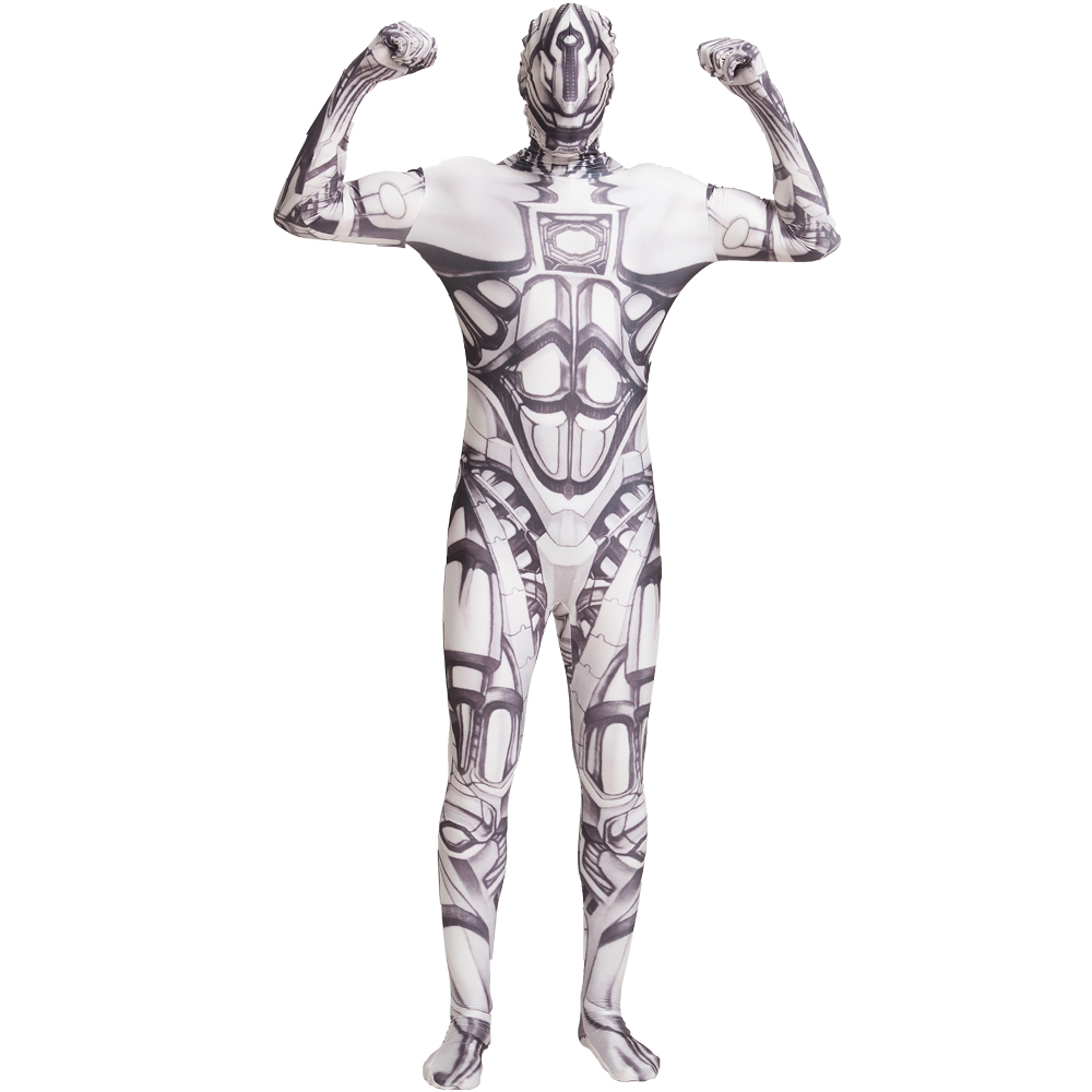 LZCMsoft RoboCop Cosplay Costumes Full Body Second Skin Zentai Bodysuits for Men & Kids Halloween Suits