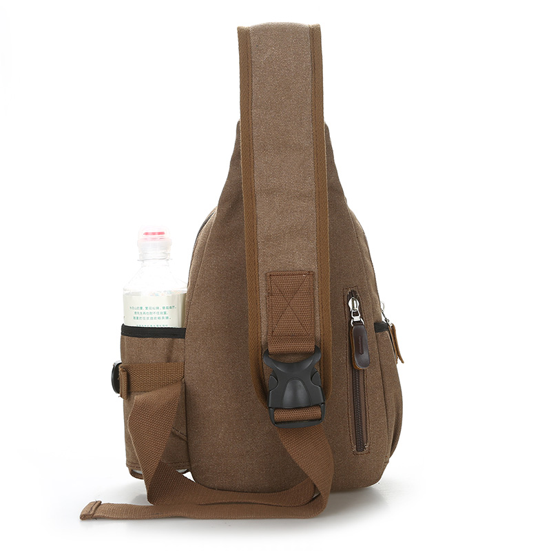 Joker Canvas Chest Package College Style 100 Cotton Crossbody Bag Fashion Overnight Bag High Quality Small Travel Bag Young Men in Crossbody Bags from Luggage Bags