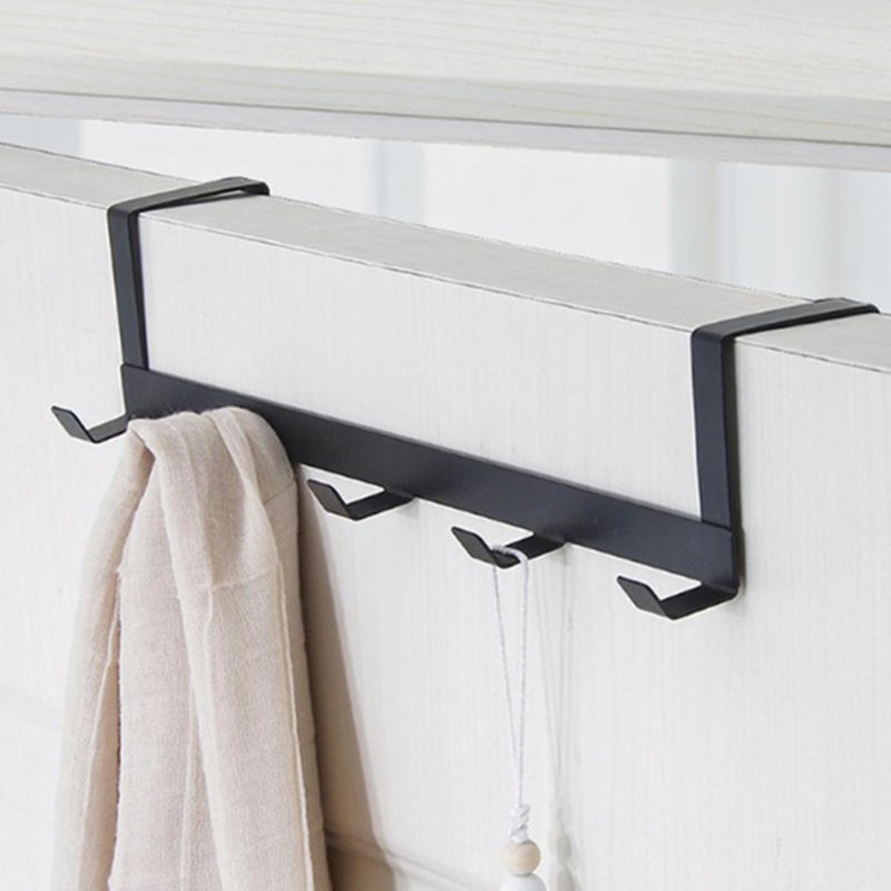 Hook-Rack Bearing Door-Hanger Living-Room Kitchen Black White-Color Hat 5 Durable title=