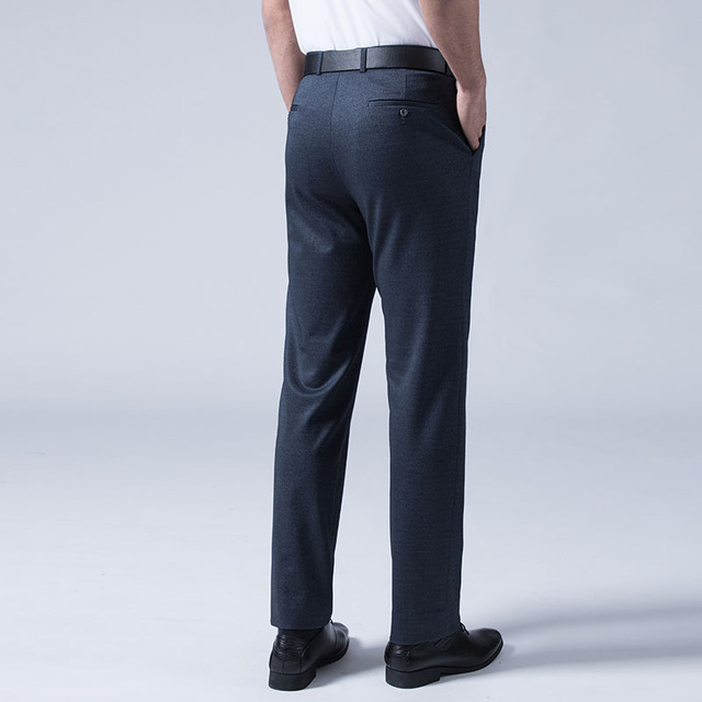 New High-quality Business Suit Pants Goods Cotton Casual Summer Men Office Superior Quality Pure Color Mens Formal Trousers